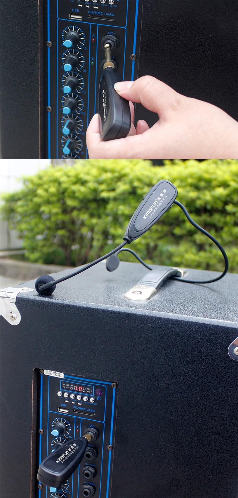 Top 5 Micro không dây đeo tai hát karaoke kết nối ampli có sẵn - 11