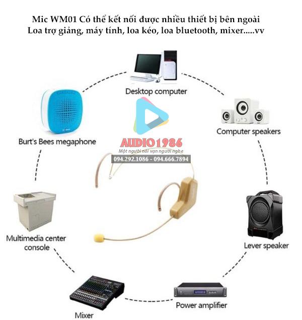 Top 5 Micro không dây đeo tai hát karaoke kết nối ampli có sẵn - 1
